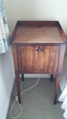 """ANTIQUE BEDSIDE TABLE/""""potty cupboard"""""""