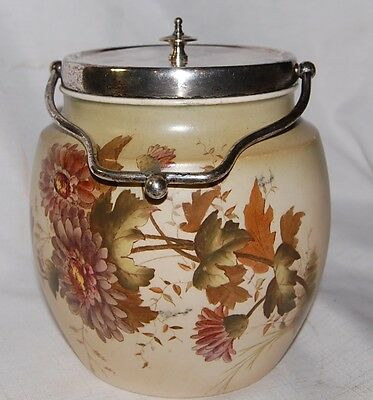 Antique W & R Stoke on Trent Carlton Ware Biscuit Cookie Jar with Lid