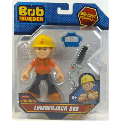 Lumberjack Bob Action Figure Bob the Builder Figure Fisher Price 3Yrs+NEW