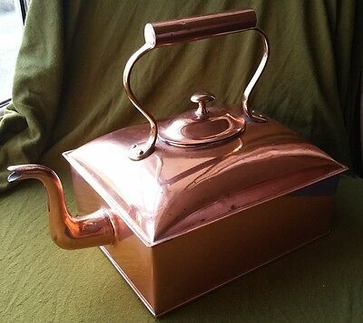 A Large Victorian Oblong Copper No.2 Kettle