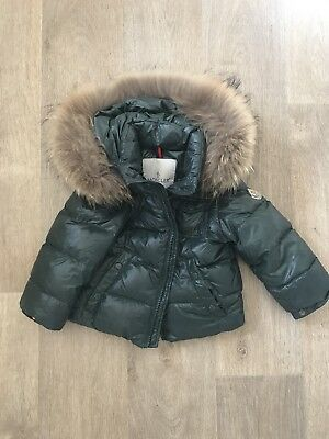 Moncler Puffer Jacket With Detachable Fur Hood Genuine