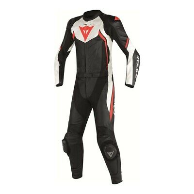 Dainese Avro D2 Black White Red-Fluo 2 Pcs Motorcycle Suit - New! Free Shipping!
