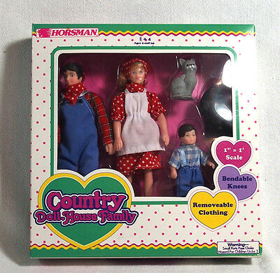 Horsman Country Doll House Family in Original Box