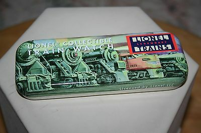 LIONEL COLLECTIBLE TRAIN WATCH with CASE NOS COA MODEL RR TRAIN JC
