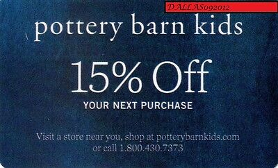 POTTERY BARN KIDS In-Store/Online CPN -  15% OFF Next  Purchase! - Exp 12/10/17