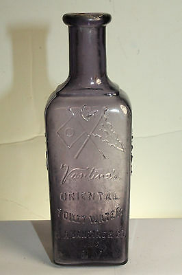 Vintage Embossed Purple Vanlines Oriental Toilet Water Bottle New York Foreign