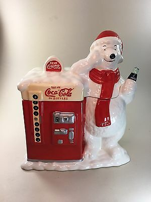 Coca Cola Polar Bear Coke Machine Cookie Jar officially licensed