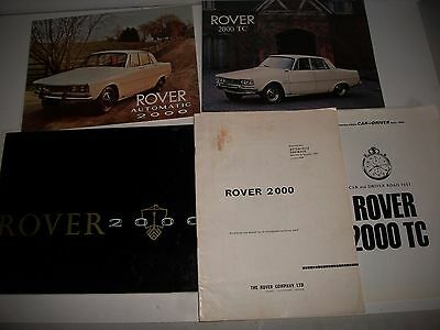 1960's ROVER 2000 2000TC BROCHURES ROADTEST  REPORTS TECHNICAL INFORMATION