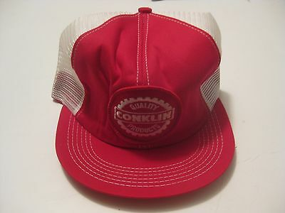 Nos Vintage Conklin Seed & Feed Advertising Baseball Cap Hat ~ Never Worn