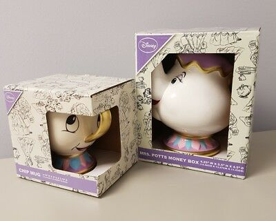 Disney primark Mrs Potts money box and chip mug