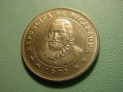Nicaragua 1972 1-Cordoba In Uncirculated Condition