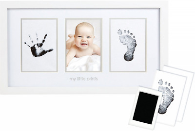 Pearhead Babyprints Newborn Baby Handprint and Footprint Photo Frame Kit with an