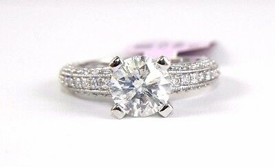 2.71Ct SI1/G Huge Round Diamond Solitaire Engagement Ring 14k White Gold Sz 7
