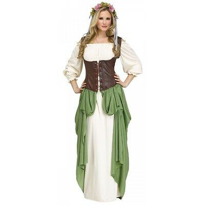Wench Costume Adult Renaissance Medieval Halloween Fancy Dress