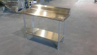 "52 1/4"" x 24"" x 36"" Tall  Stainless Steel Prep Table with 5 3/8"" Backsplash"