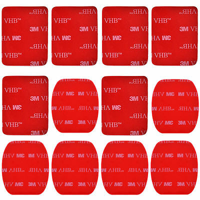 Top Quality 12pcs Flat Curved Mount 3M Adhesive Pad for Gopro Hero 2 3 3+ 4 OS86