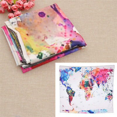 WORLD MAP WALL Tapestry Floral Wall Hanging Tapestry Home Decor ...