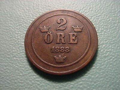 Sweden 1888 2-Ore In Very Nice Condition