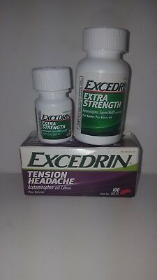 Excedrin Extra Strength & Tension Headache total of 200 Caplets