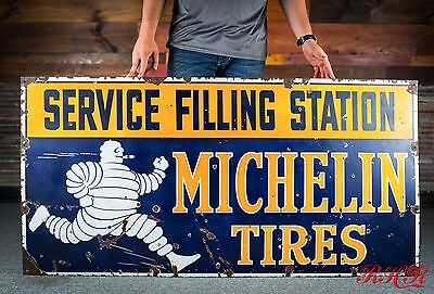 Original 1920's Michelin Garage Service Station Gas Oil Sign