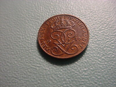 Sweden 1910 1-Ore In Excellent Condition