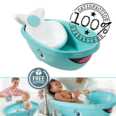 Fisher Price Whale Baby Kids Toddler Newborn Shower Bath Safety Seat Tub Bathtub