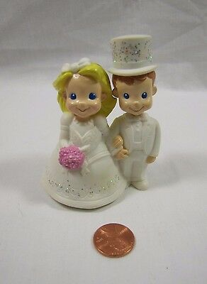 Vintage Fisher Price Fun with Food WEDDING CAKE BRIDE GROOM TOPPER 2002 Rare!
