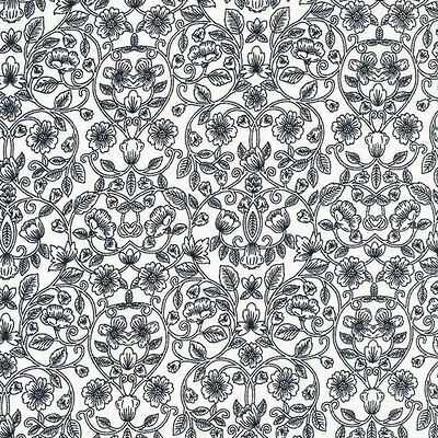 Opposites Attract Dotted Flowers White Red 100/% Cotton fabric by the yard