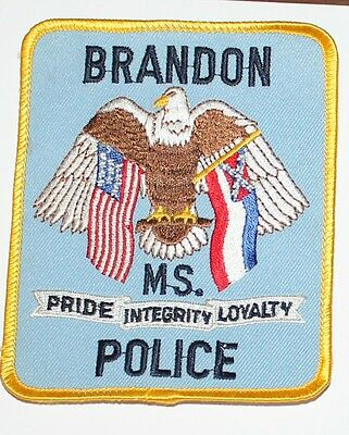 BRANDON POLICE DEPT Mississippi MS PD patch