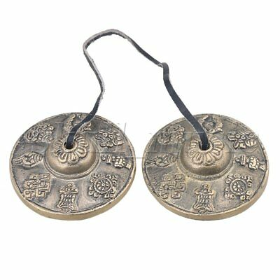 Tibetan Tingsha Cymbals Bell the Eight Auspicious Symbols Pattern