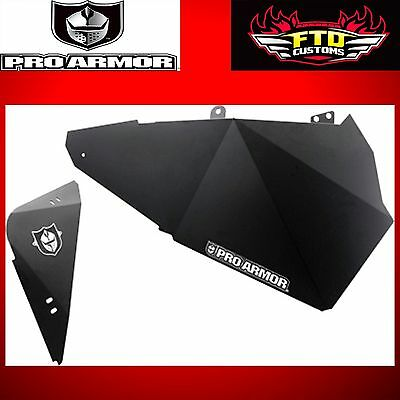 Pro Armor Black Lower Door Inserts for 2014-2015 RZR 1000 XP4 P144210BL
