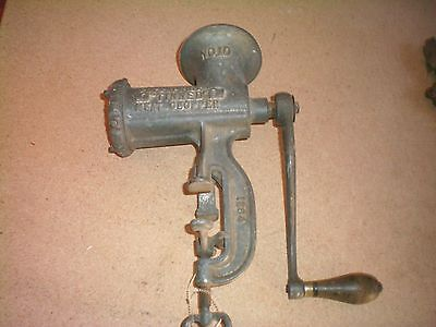 Cast Iron Enterprise #10 Tinned Meat Chopper Meat Grinder Vtg Non Electric