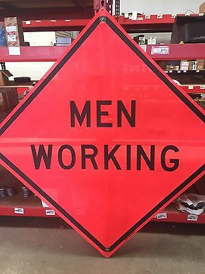 """TRAFFIX DEVICES 48""""x48"""" MESH SIGNS MEN WORKING WORDS ROLL UP"""