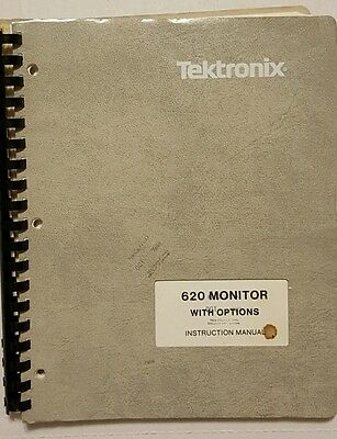 Tektronix 620 monitor with options instruction manual booklet