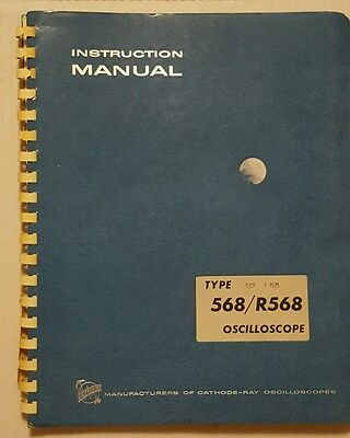 Tektronix type 568/R568 oscilloscope instruction manual booklet vintage