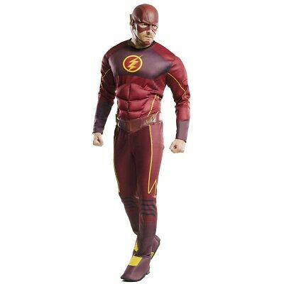 The Flash Costume Adult Superhero Suit Halloween Fancy Dress Outfit