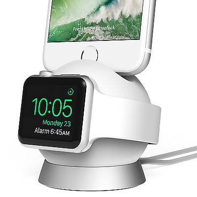iOttie OmniBolt Apple Watch & iPhone Charging Stand - Silver