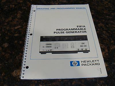 HP / Agilent 8161A Programmable Pulse Generator Operating and Programming Manual