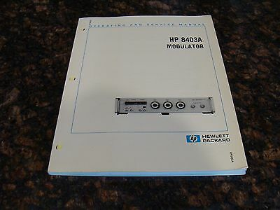 HP / Agilent 8403A Modulator Operating and Service Manual