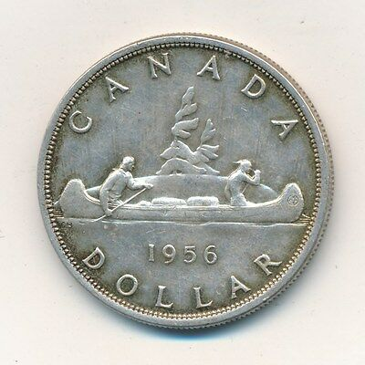 1956 Canada Silver Dollar-Attractive Silver Canadian Coin! Ships Free!