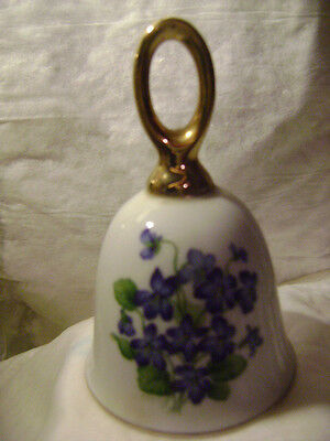 Ceramic Souvenir Bell-*************blue Flowers************