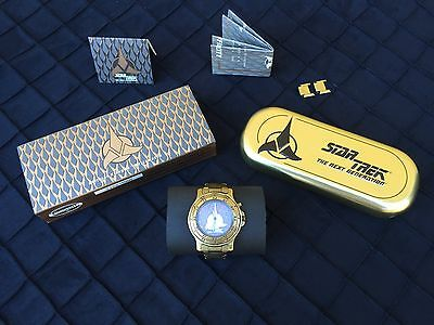 Star Trek Klingon Gold Edition Limited Ed Fossil Watch Signed By Michael Dorn