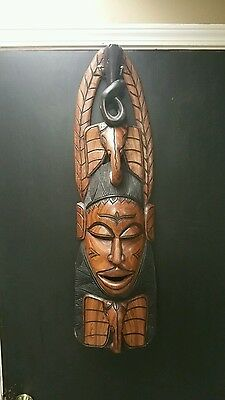Large Beautiful Antique African Hand-Carved Tribal Mask  35Inch