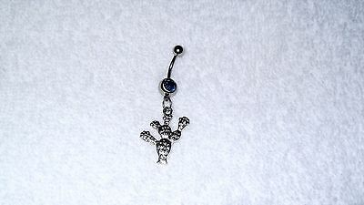 Desert Cactus Sun Southwest Charm Belly Button Navel Ring Body Jewelry Piercing