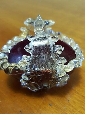 Victorian ruby glass mustard or jam pot