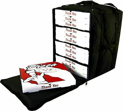 "Case of 2 OvenHot Black Large Side Loading Delivery Bag holds 14"" Pizzas NEW"