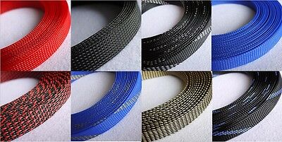 20mm Mix Color 3 weave Expandable Braided PET Sleeving Cable x1/3/5/10/20M