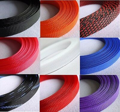 25mm Mix Color 3 weave Expandable Braided PET Sleeving Cable 1/3/5/10/20M