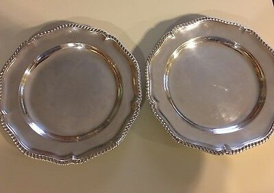 Important Pr. GEO. III Sterling Silver Service Plates/ Chargers ca. 1777