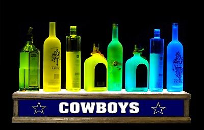"24"" Lighted Liquor Bottle Display Multi Color Led Cowboys Bar Sign"